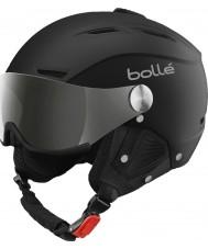 Bolle 31156 Backline visière douce casque de ski noir et argent avec un pistolet d'argent et de la visière de citron - 59-61cm
