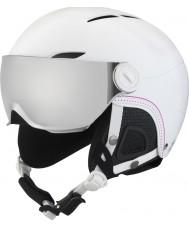 Bolle 31159 Juliette visière souple ski casque blanc avec un pistolet d'argent et de la visière de citron - 52-54cm