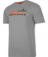 Dare2b DMT145-81I90-XXL Mens cendres de la scène de la ville t-shirt gris chiné - taille xxl