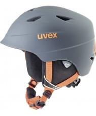 Uvex 5661325803 Airwing pro titane orange, casque de ski - 52-54cm