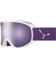 Cebe CBG60 Striker m blanc et violet - rose foncé miroir flash lunettes de ski