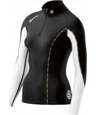 Skins DT00020750006FL Mesdames dnamic top thermique nuage noir à manches longues zip - Taille L