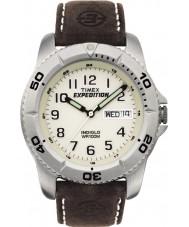 Timex T46681 Mens blanc marron expédition montre traditionnelle