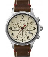 Timex TW4B04300 Mens expédition scout cuir marron montre chronographe