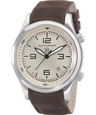 Elliot Brown 202-003-L08 Mens Canford chocolat cuir marron montre bracelet