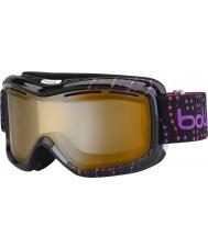 Bolle 21062 Monarch perles roses noires - modulateur agrume gun lunettes de ski