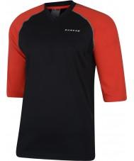 Dare2b Hommes composés dans un t-shirt rouge jersey noir