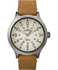 Timex TW4B06500 Mens expédition scout cuir beige montre bracelet