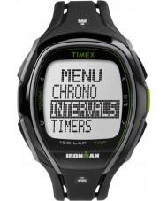 Timex TW5K96400 Ironman 150 tours en plein écran élégant bracelet en résine noire montre chronographe